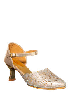 Khadim Women Rose Gold Heel Sandal