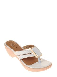 Cleo Women White Heel Slip-On