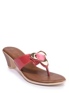 Cleo Women Red Heel Slip-On