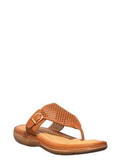 Softouch Women Brown Flat Slip-On