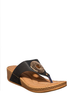 Sharon Women Black Heel Slip-On