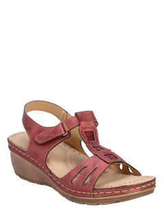 Sharon Women Maroon Heel Sandal
