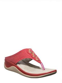 Sharon Women Red Heel Slip-On