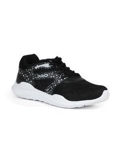 Pro Men Black Sports/Fitness Sneakers