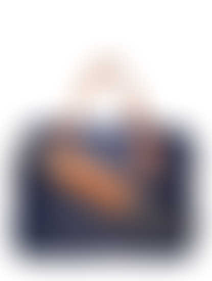 Khadim Men Navy Portfolio Bag