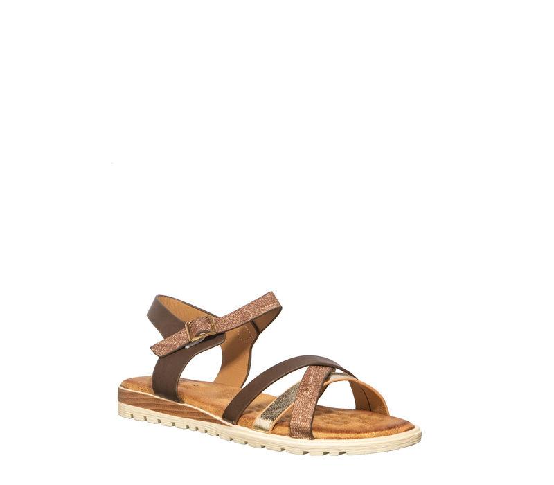 Cleo Women Brown Flat Sandal