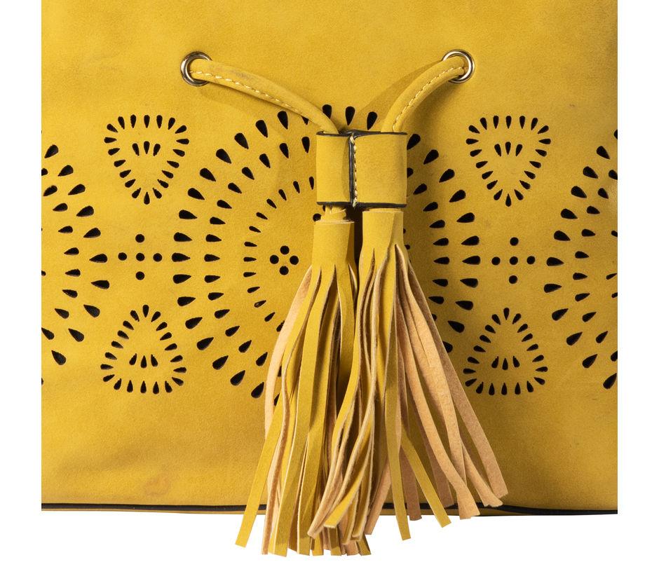 Khadim Women Yellow Handbag