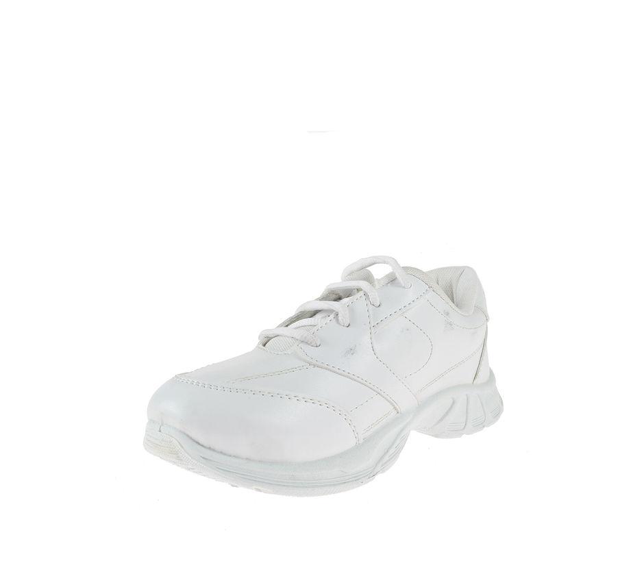 Khadim Boys White Sneakers School Shoe