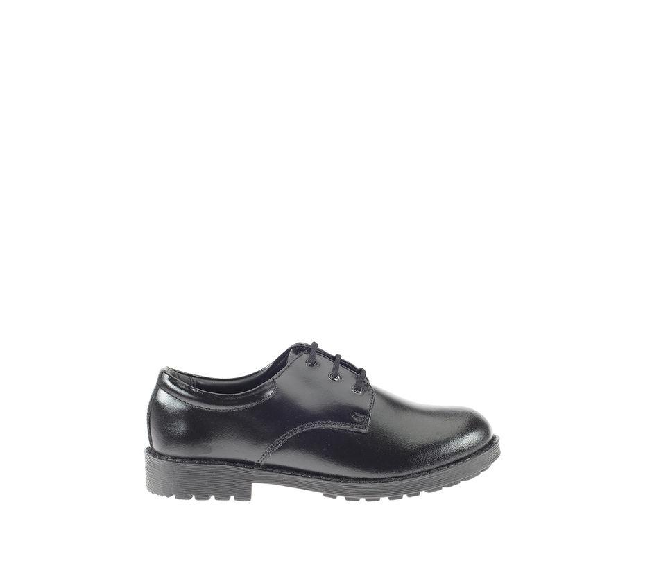 Khadim Boys Black Derby School Shoe
