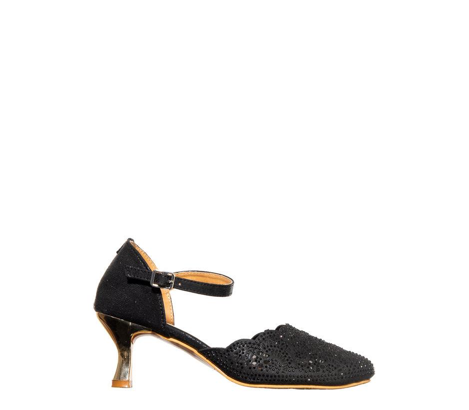Khadim Women Black Heel Sandal