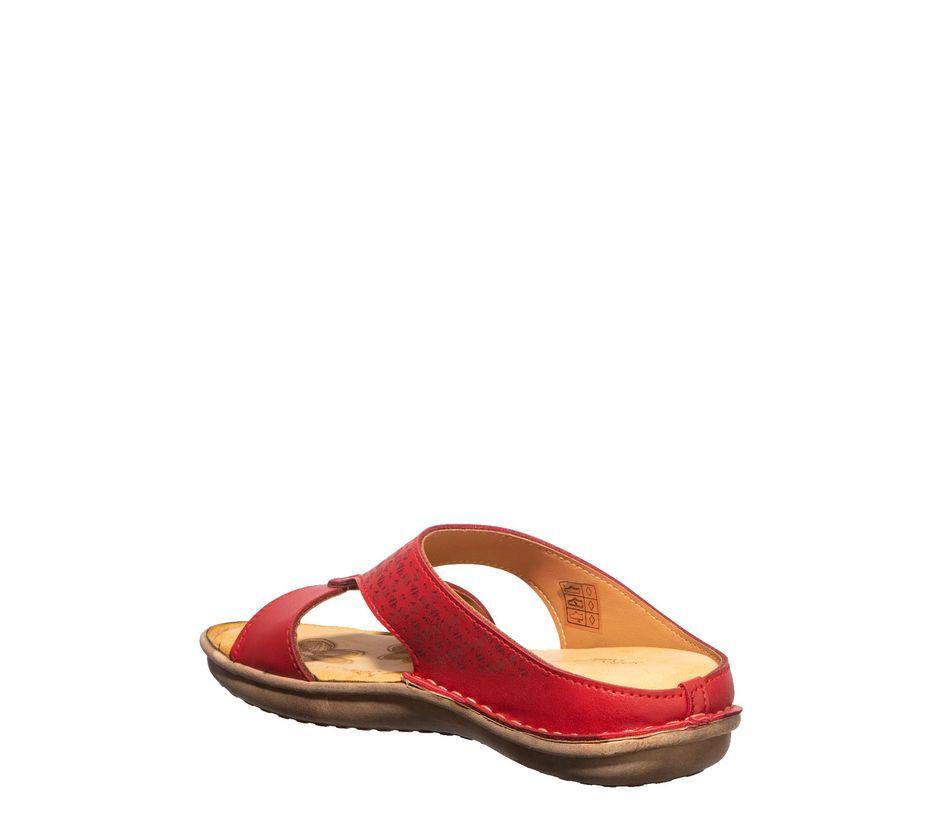 Softouch Women Red Flat Slip-On