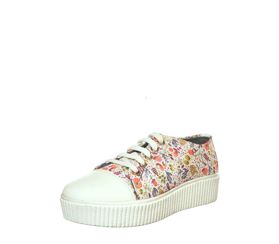 Khadim Women White Casual Sneakers