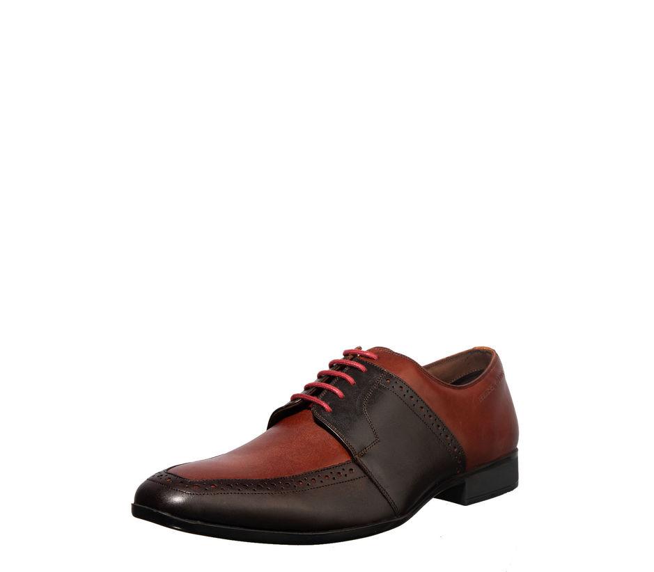 British Walkers Men Brown Derby Formal Shoe