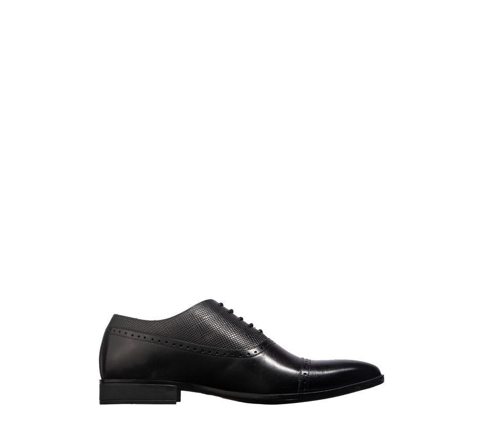 British Walkers Men Black Oxford Formal Shoe