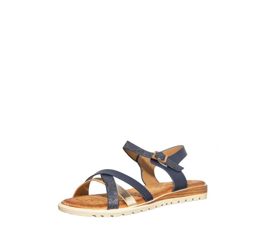 Cleo Women Navy Flat Sandal