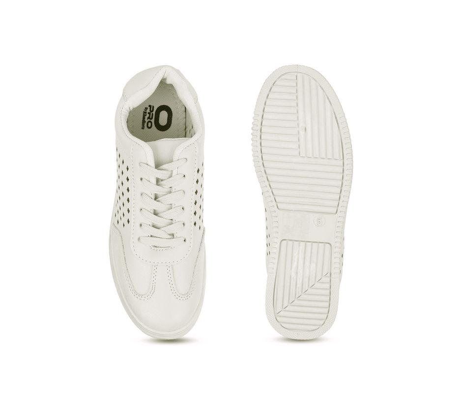 Pro Women White Casual Sneakers