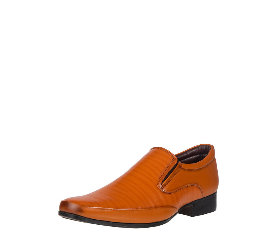 Lazard Men Tan Slip-On Formal Shoe